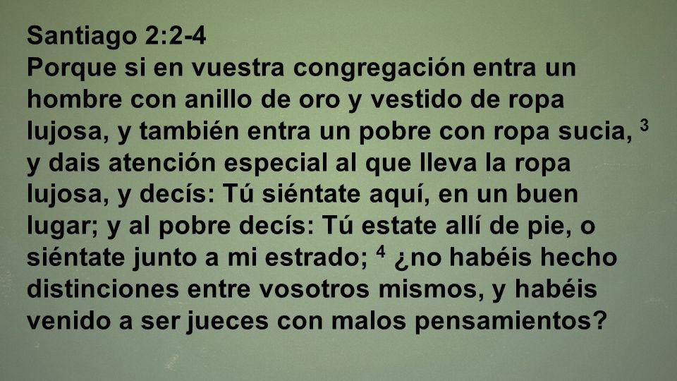 Santiago 2:2-4