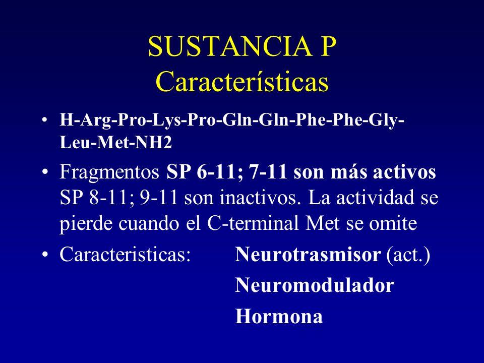 SUSTANCIA P Características