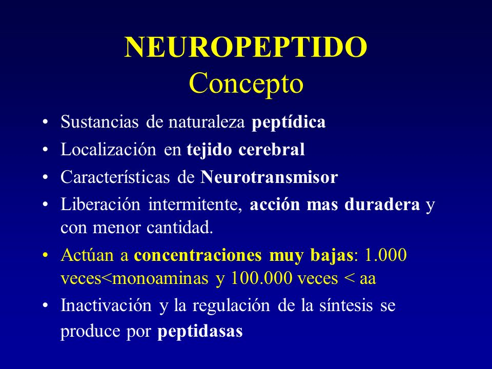 NEUROPEPTIDO Concepto