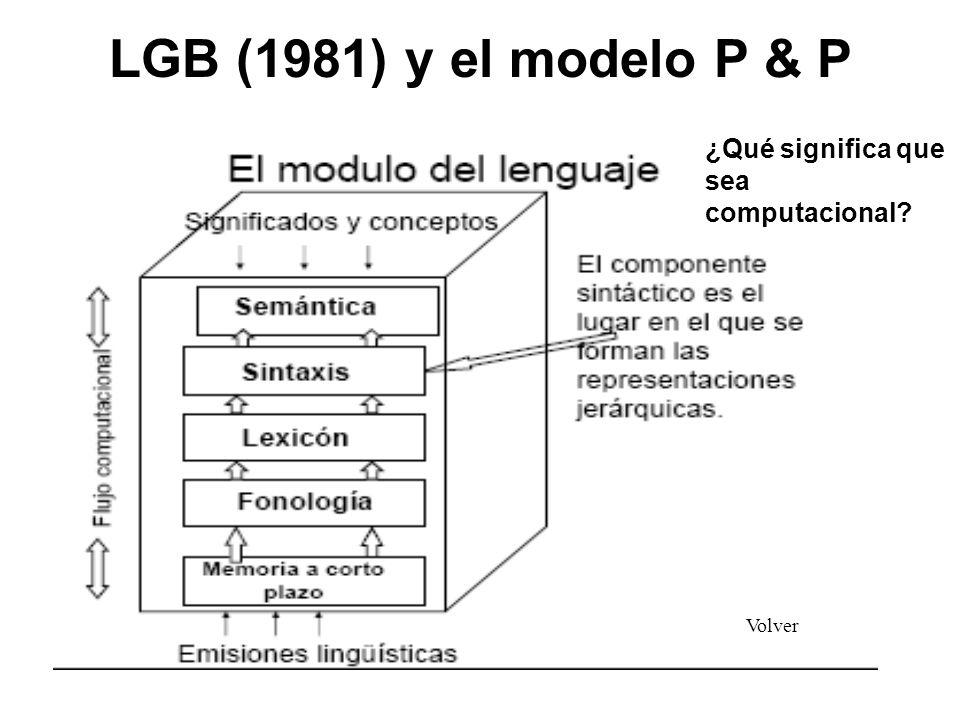 LGB (1981) y el modelo P & P ¿Qué significa que sea computacional