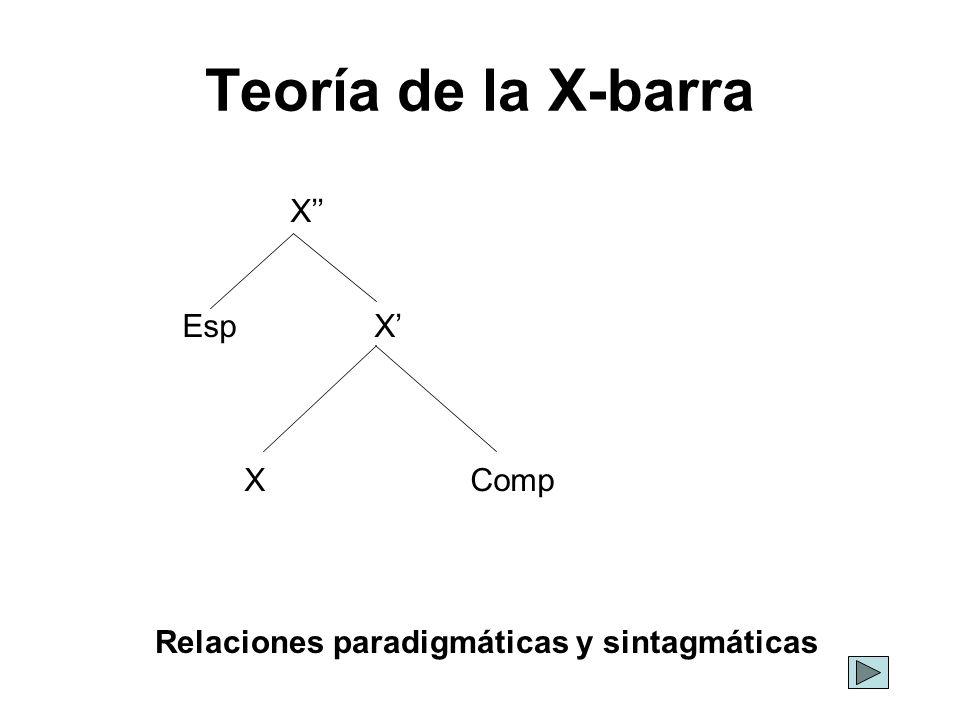 Relaciones paradigmáticas y sintagmáticas