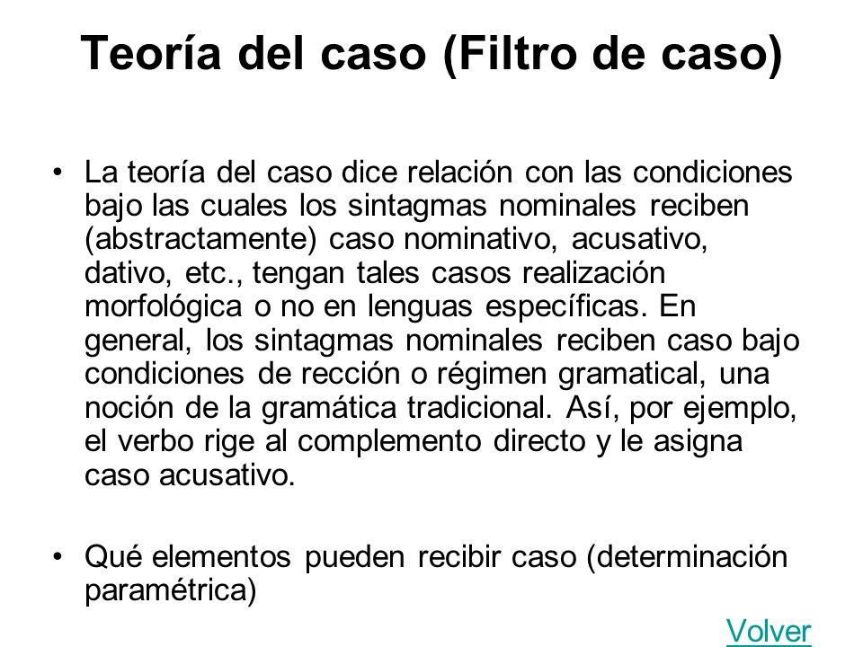 Teoría del caso (Filtro de caso)