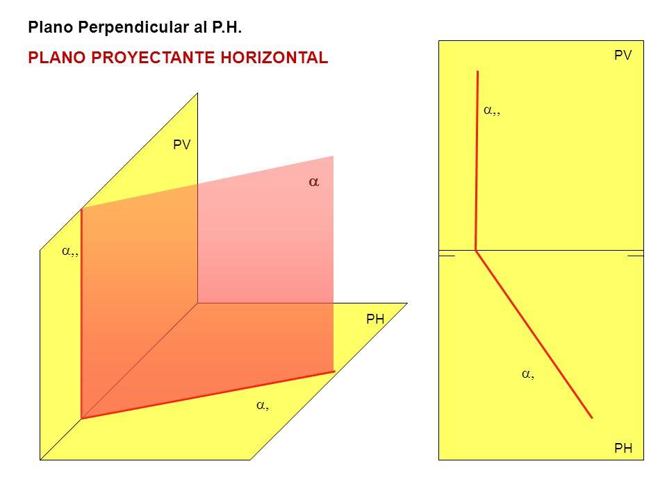 a,, a,, a, a, Plano Perpendicular al P.H. PLANO PROYECTANTE HORIZONTAL