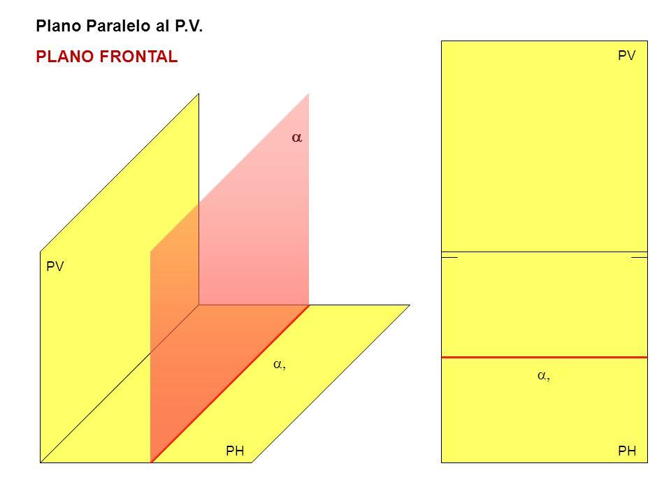 Plano Paralelo al P.V. PLANO FRONTAL PV a PV a, a, PH PH