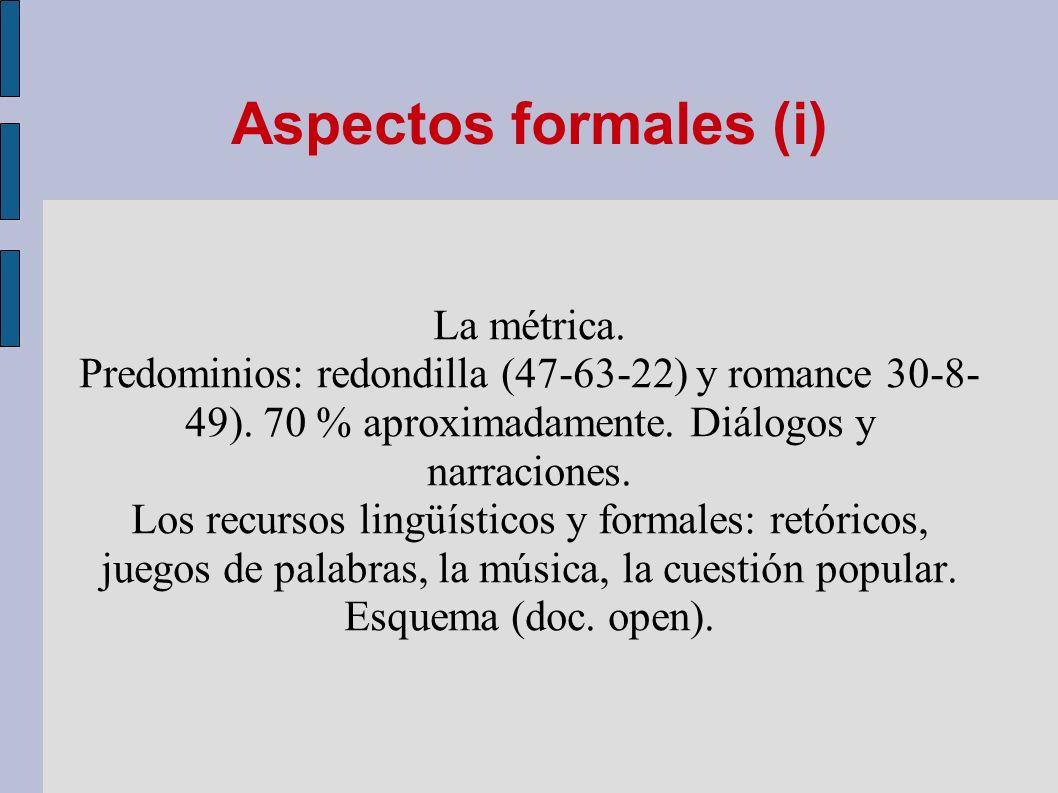 Aspectos formales (i)