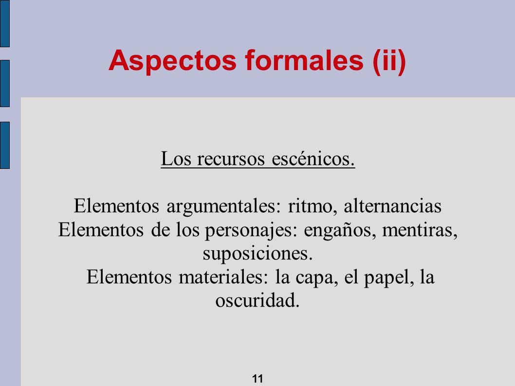 Aspectos formales (ii)