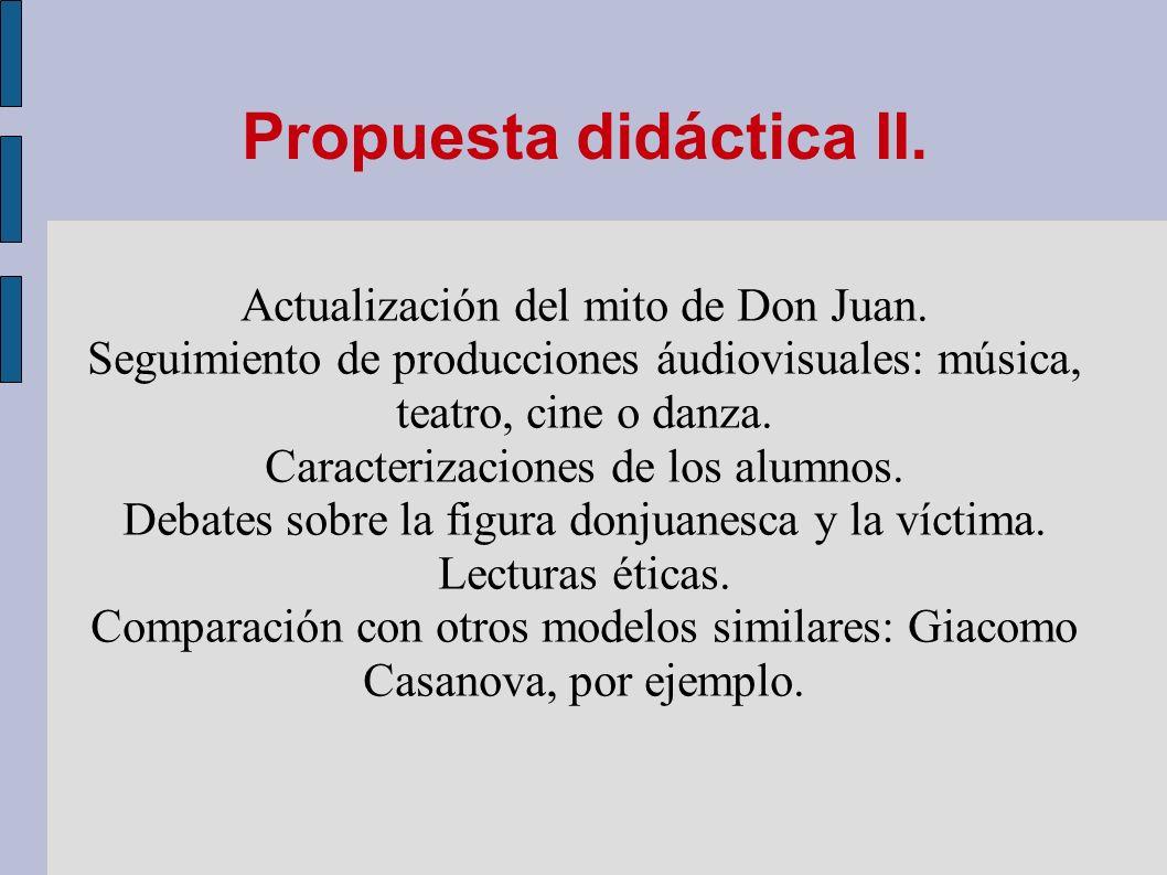 Propuesta didáctica II.