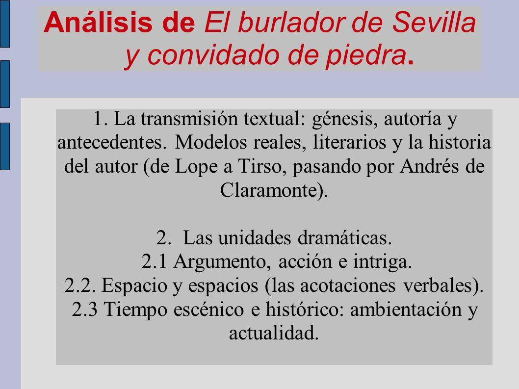 Análisis de El burlador de Sevilla y convidado de piedra.