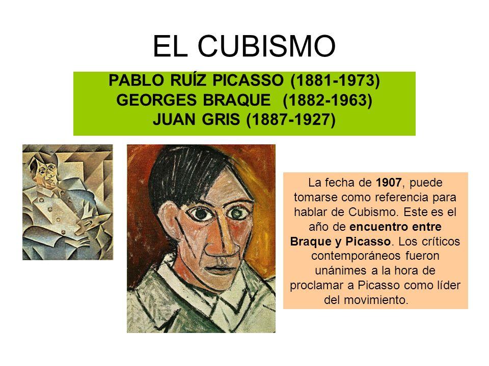 EL CUBISMO PABLO RUÍZ PICASSO (1881-1973) GEORGES BRAQUE (1882-1963)