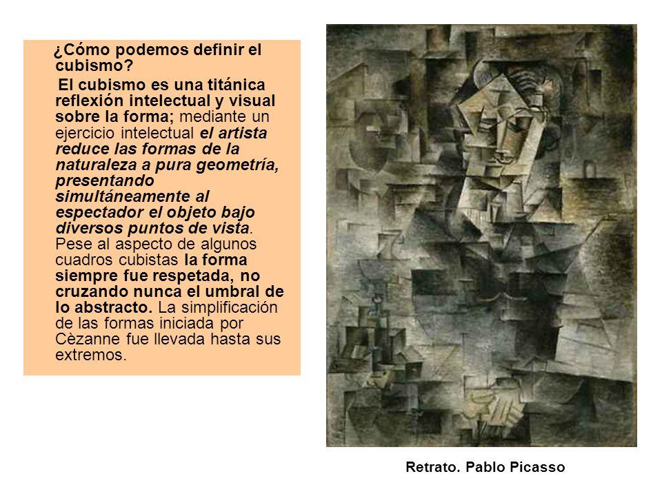 ¿Cómo podemos definir el cubismo