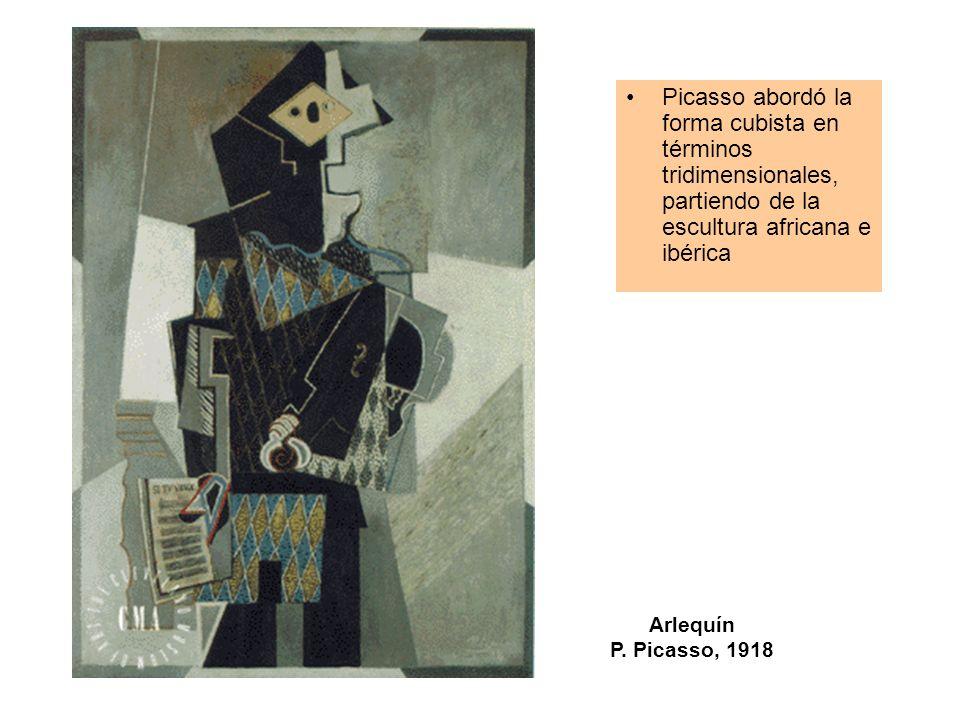 Picasso abordó la forma cubista en términos tridimensionales, partiendo de la escultura africana e ibérica