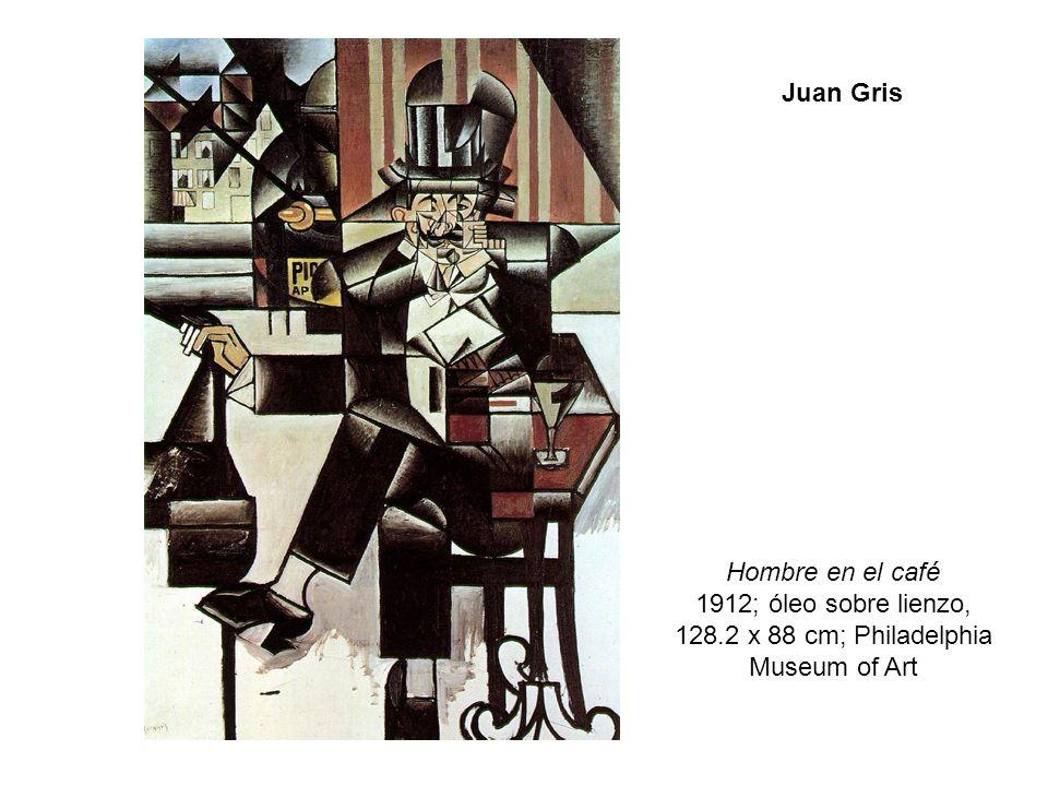 Hombre en el café 1912; óleo sobre lienzo,