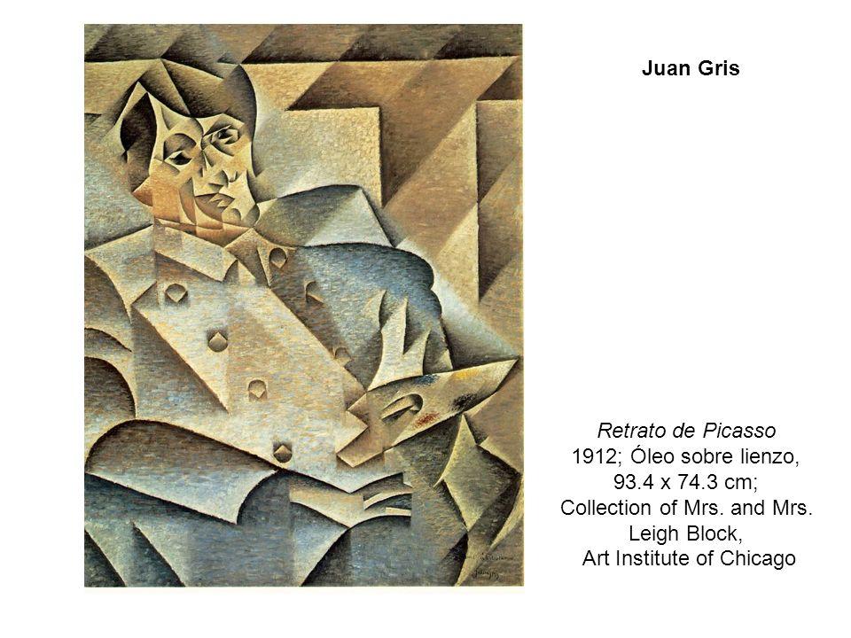 Retrato de Picasso 1912; Óleo sobre lienzo, 93.4 x 74.3 cm;