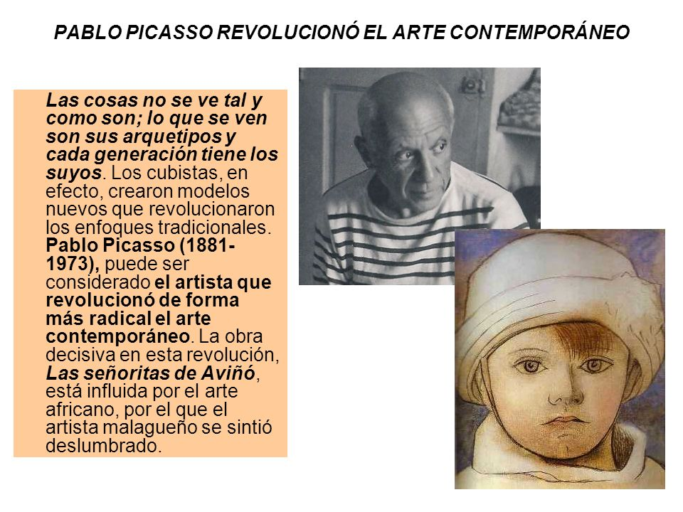 PABLO PICASSO REVOLUCIONÓ EL ARTE CONTEMPORÁNEO