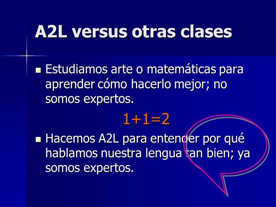 A2L versus otras clases 1+1=2