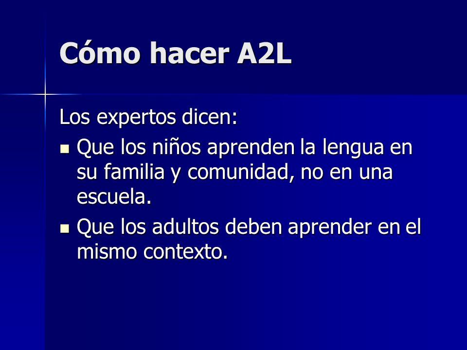 Cómo hacer A2L Los expertos dicen: