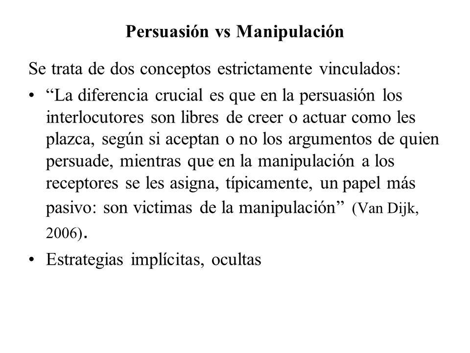 Persuasión vs Manipulación