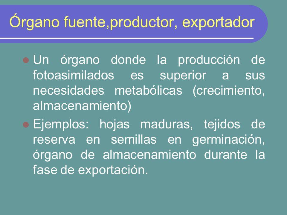 Órgano fuente,productor, exportador