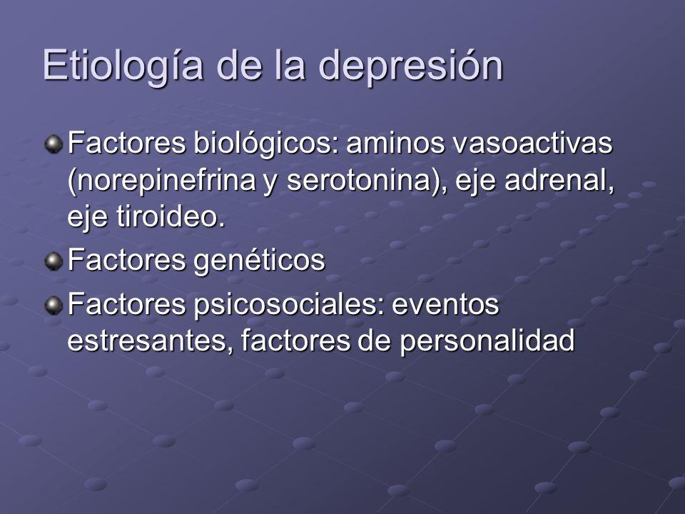 Etiología de la depresión