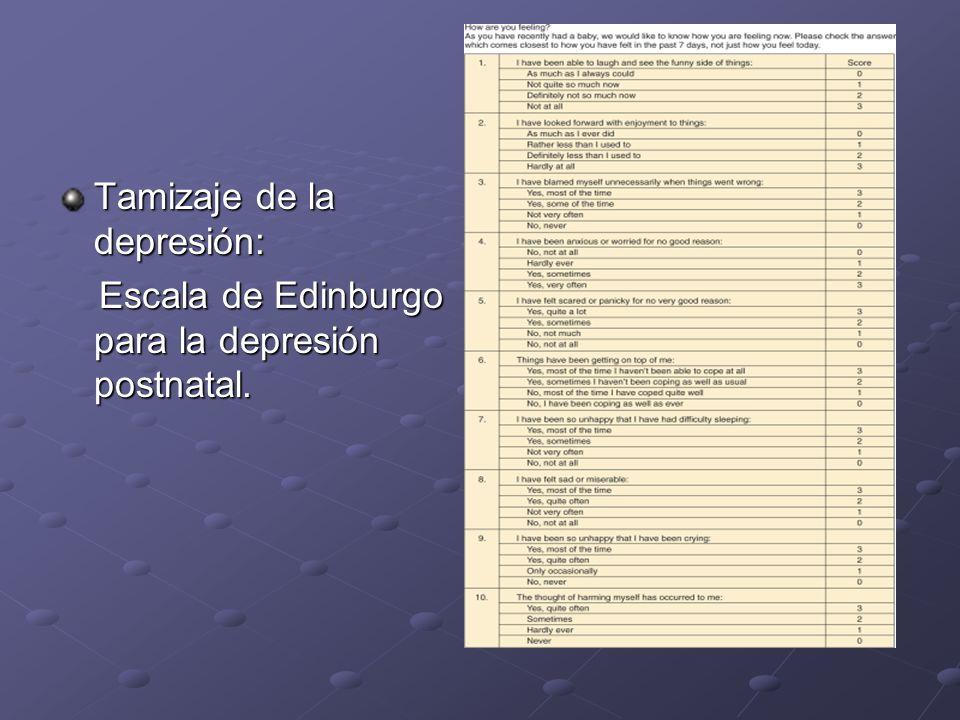 Tamizaje de la depresión: