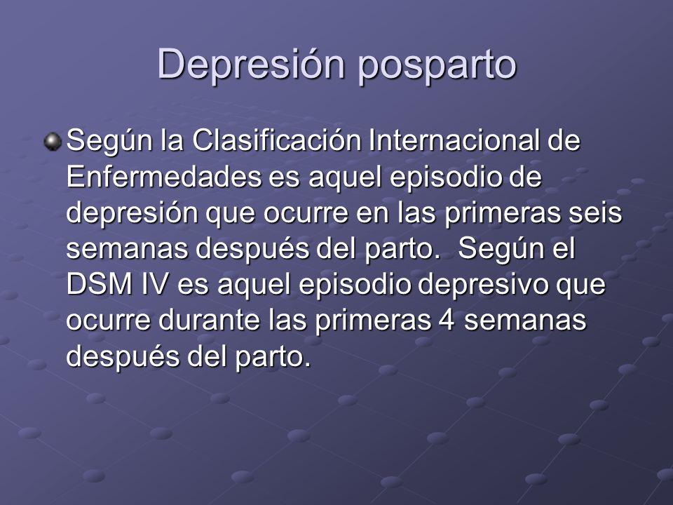 Depresión posparto
