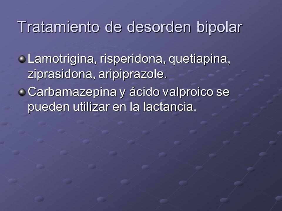Tratamiento de desorden bipolar
