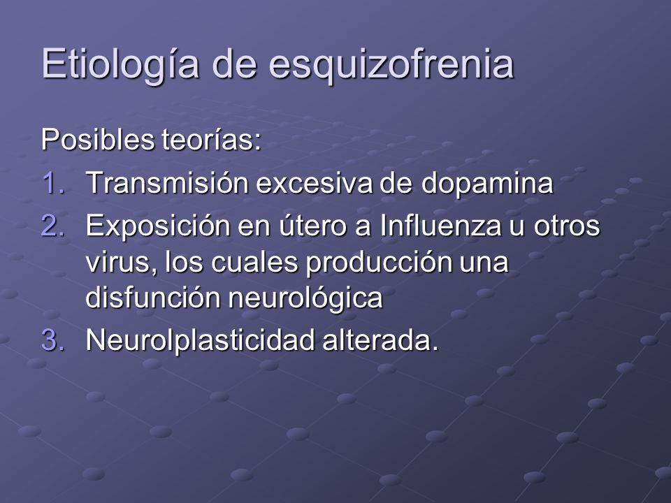 Etiología de esquizofrenia