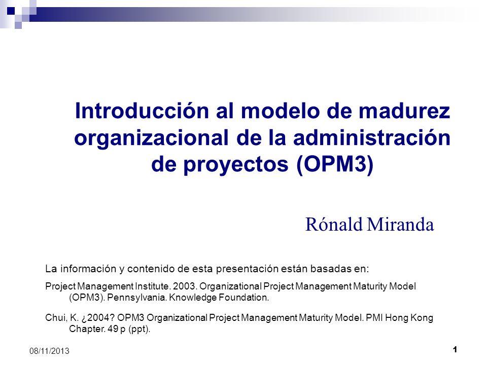 Introducción al modelo de madurez organizacional de la administración de proyectos (OPM3)