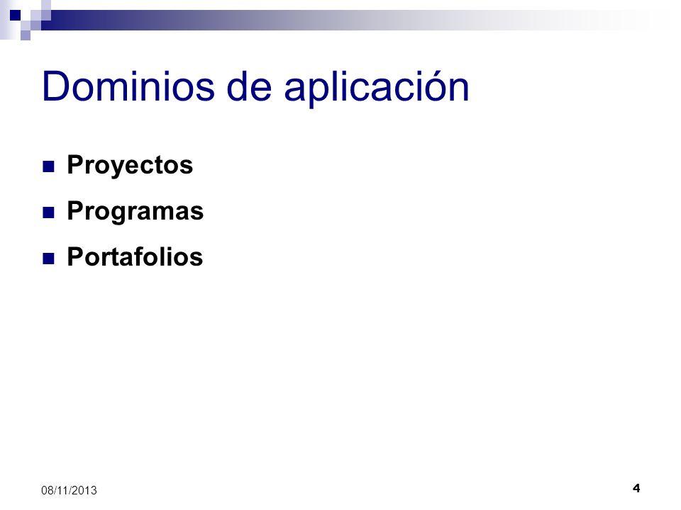 Dominios de aplicación