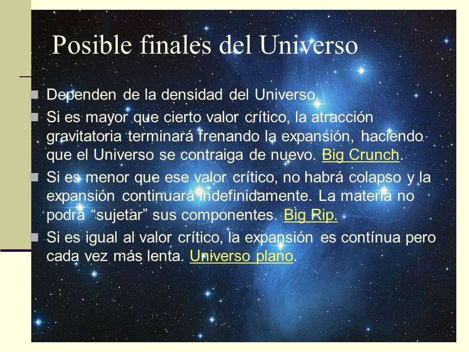 Posible finales del Universo