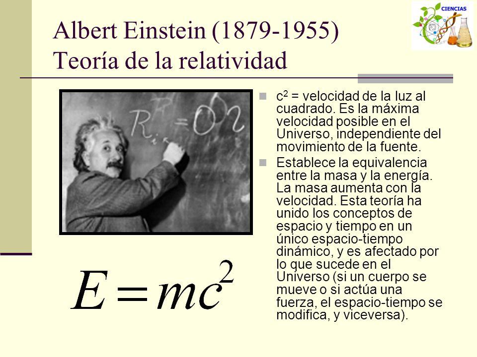 Albert Einstein (1879-1955) Teoría de la relatividad
