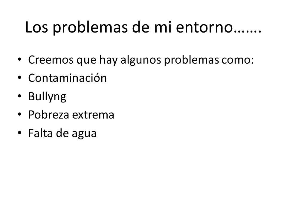 Los problemas de mi entorno…….