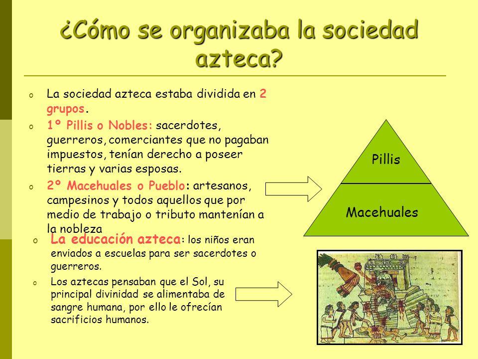 ¿Cómo se organizaba la sociedad azteca