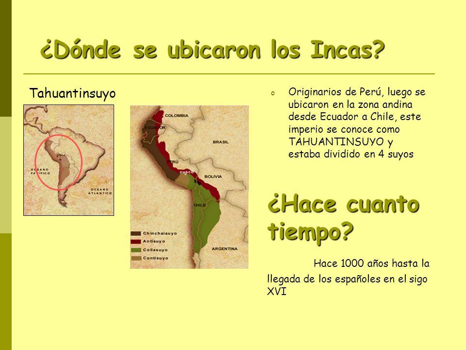 ¿Dónde se ubicaron los Incas