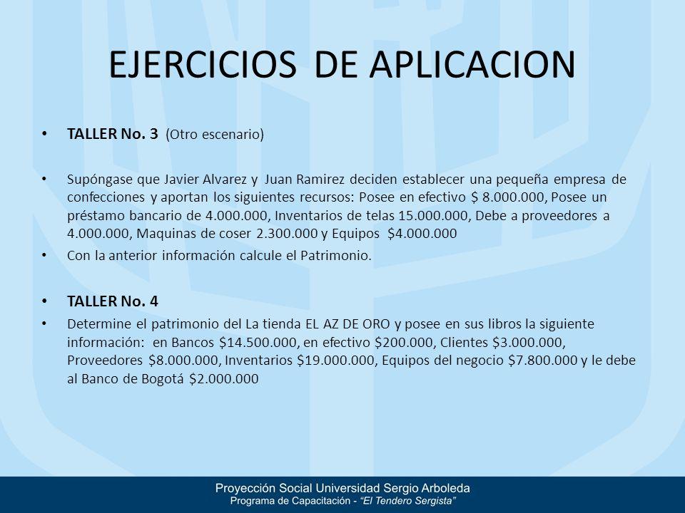 EJERCICIOS DE APLICACION