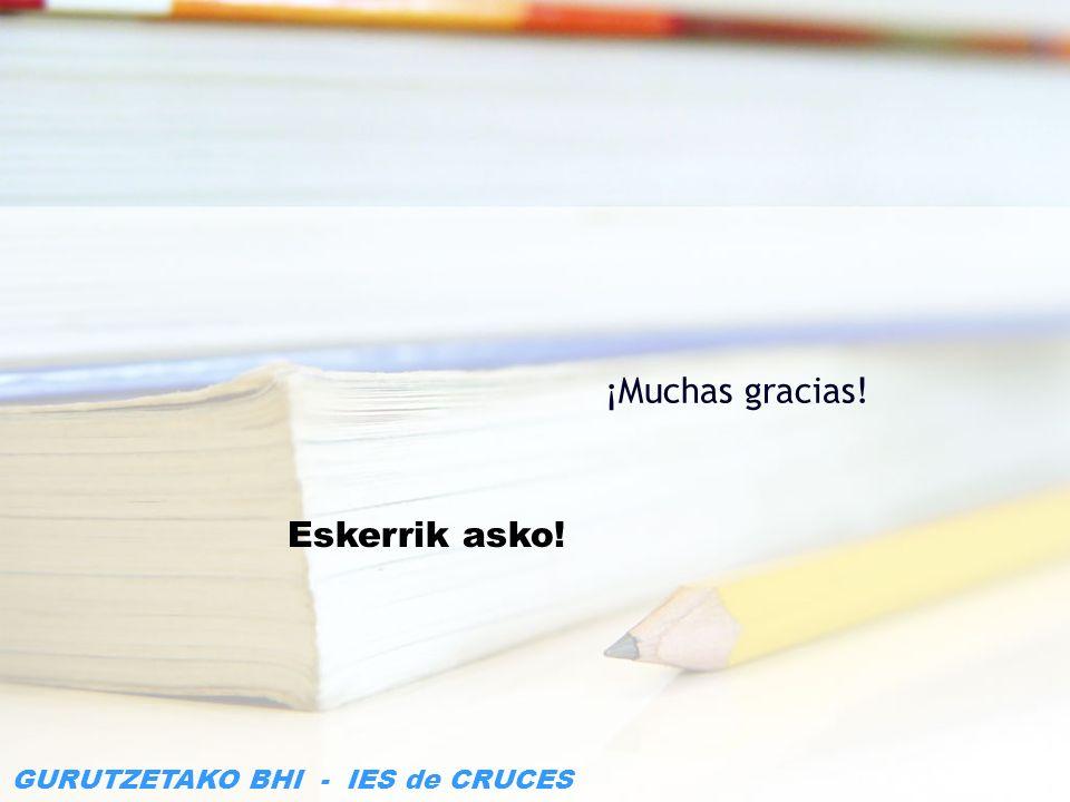 ¡Muchas gracias! Eskerrik asko!