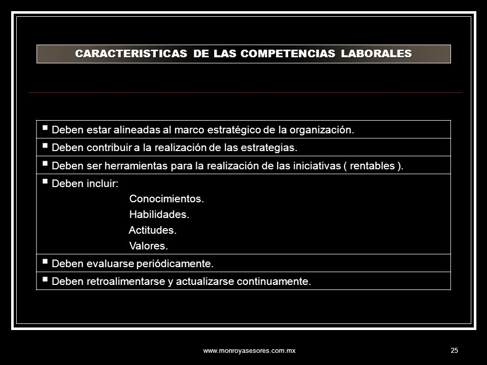 CARACTERISTICAS DE LAS COMPETENCIAS LABORALES