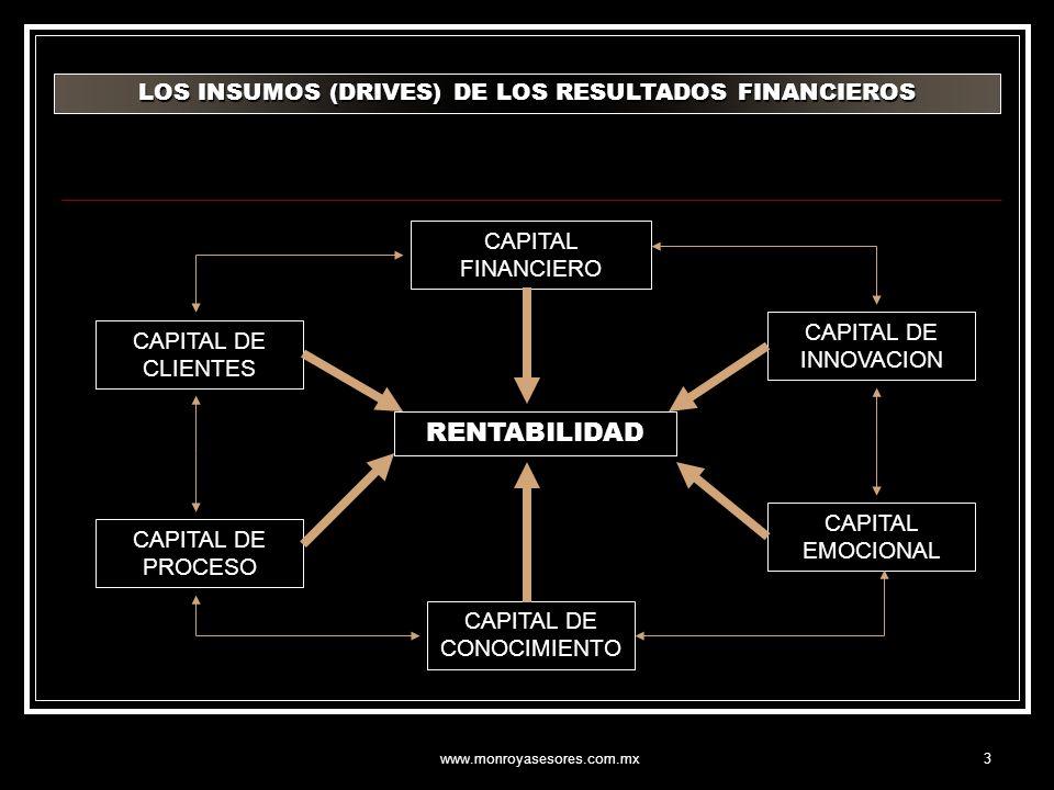 RENTABILIDAD LOS INSUMOS (DRIVES) DE LOS RESULTADOS FINANCIEROS