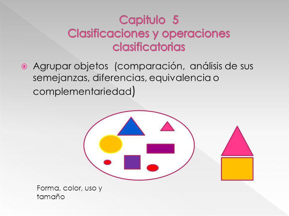 Capitulo 5 Clasificaciones y operaciones clasificatorias