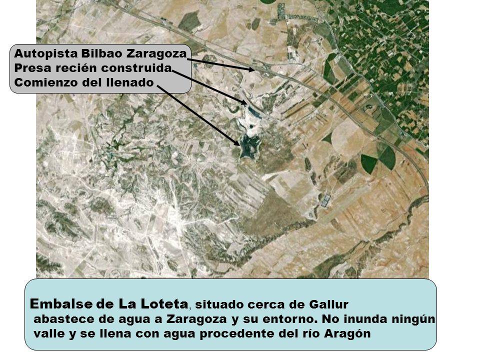 Embalse de La Loteta, situado cerca de Gallur