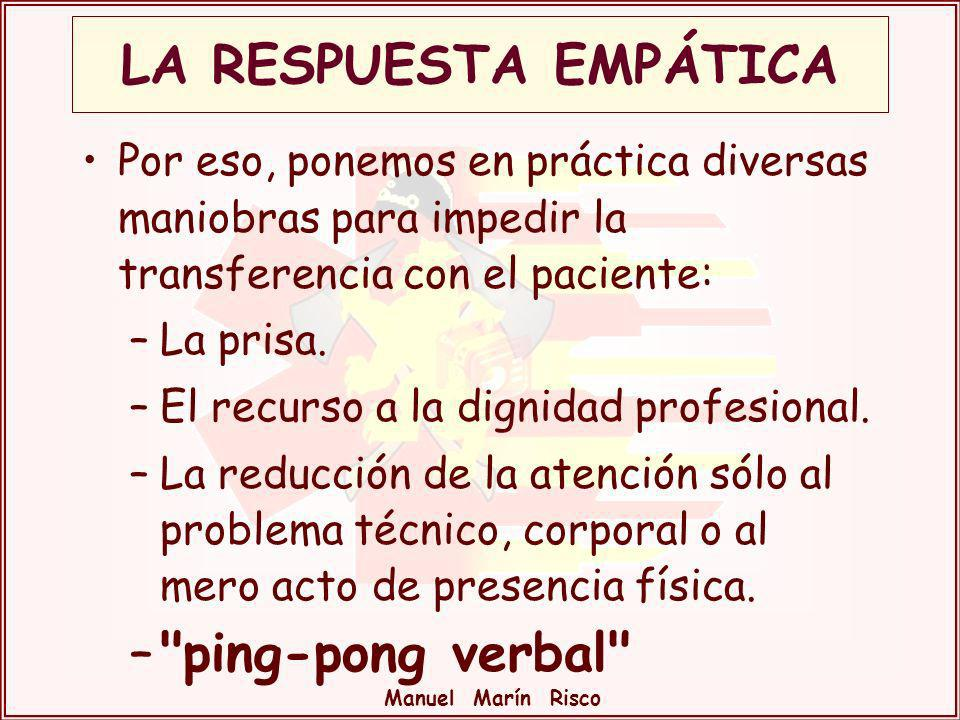 LA RESPUESTA EMPÁTICA ping-pong verbal