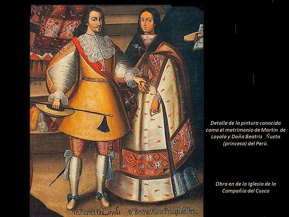 Obra en de la Iglesia de la Compañía del Cusco