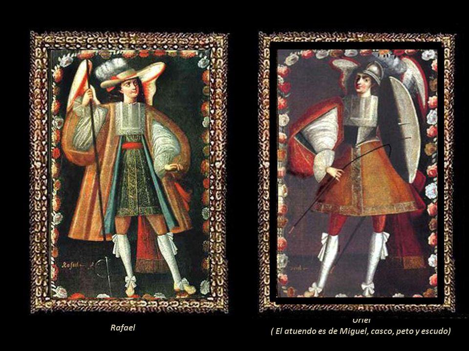 Uriel ( El atuendo es de Miguel, casco, peto y escudo) Rafael