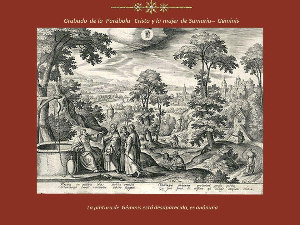 Grabado de la Parábola Cristo y la mujer de Samaria-- Géminis
