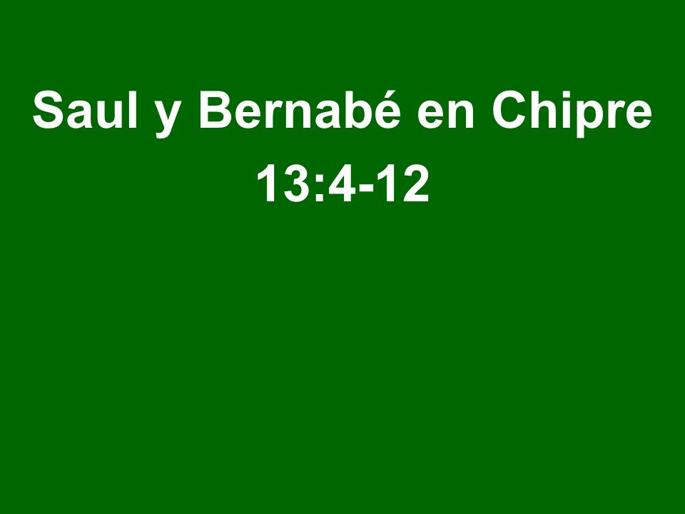 Saul y Bernabé en Chipre