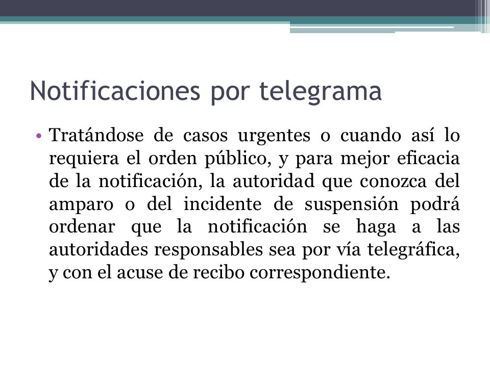 Notificaciones por telegrama
