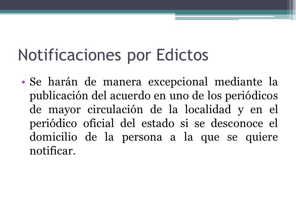 Notificaciones por Edictos