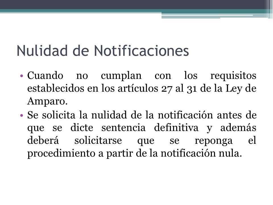 Nulidad de Notificaciones
