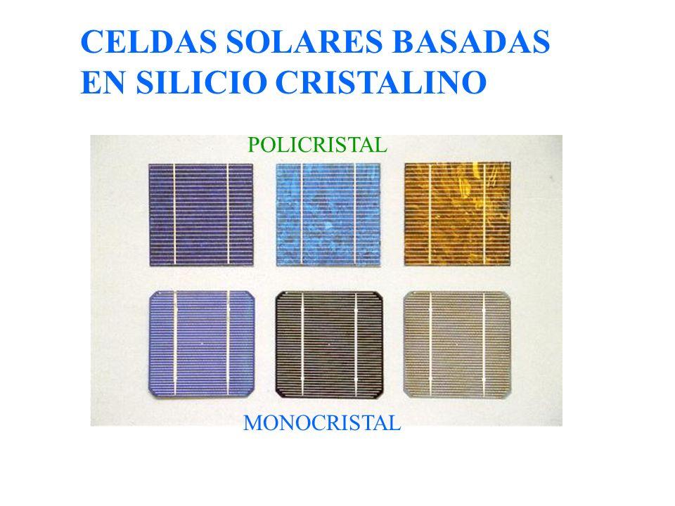 CELDAS SOLARES BASADAS EN SILICIO CRISTALINO