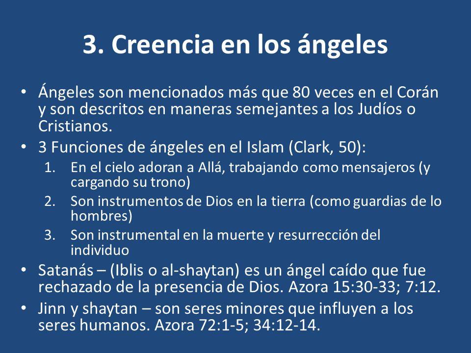 3. Creencia en los ángeles